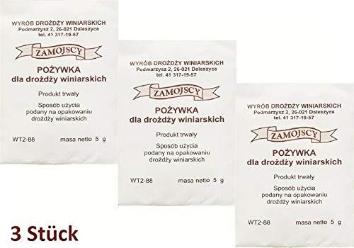 Hugbert Nährstoff auf 25L für Wein, 100% natürlisches Produkt, 3 Stück