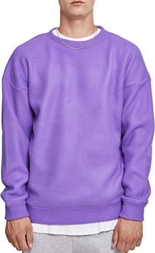 Urban Classics Herren Polar Fleece Crew Sweatshirt, Violett (Ultraviolet 01459), L