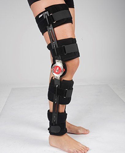 Rodillera Ajustable ROM - Ortesis de rodilla - plegable, ideal para post operatorio - Tamaño universal de pierna