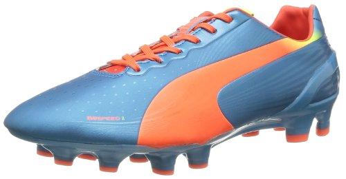 Puma evoSPEED 2.2 FG 102861 Herren Fußballschuhe, Blau (sharks blue-fluro peach-fluro yellow 05), EU 42 (UK 8) (US 9)