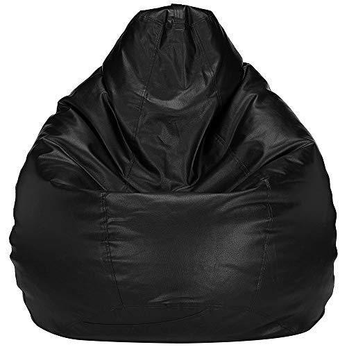 G&U||Classy Bean Bags with Beans Filled(Bean Bag Beans/Bean Bag Fillers)||Black,Size-XXL