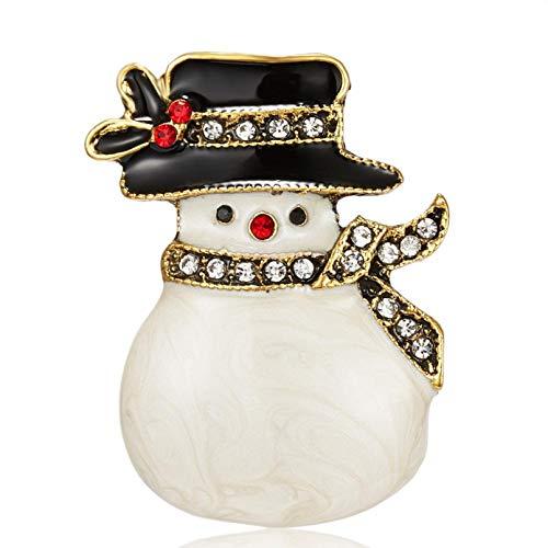 KUANGLANG Vintage Lindo Encanto Navidad Ciervos broches para Mujeres Hombres Regalo de Año Solapa Collar broches Accesorios de joyería