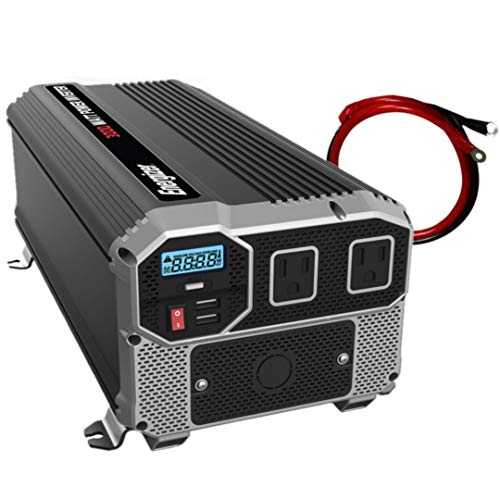 Energizer 3000 Watts Power Inverter, 12V to 110 Volts Modified Sine Wave Car Inverter,...
