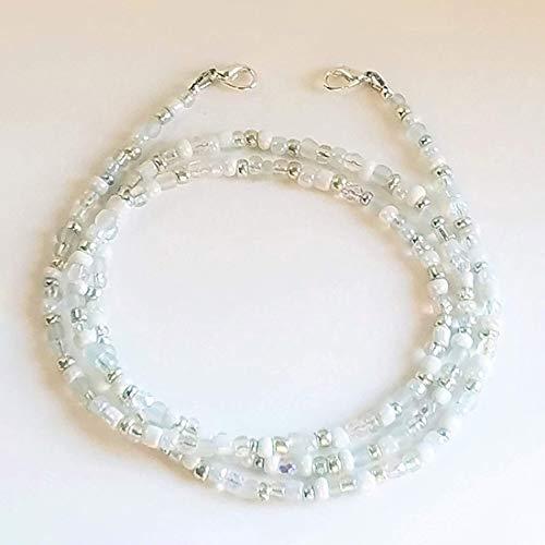 Maskenhalter Halskette Bunte Perlen Gesichtsmaske Sonnenbrille Brille Stilvoller Halter Kettenmaske Gurt, Gesichtsmaske Halter Kettenriemen, Bunte Perlen Maske Lanyard