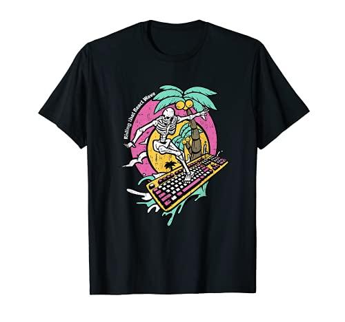 RGBキーボードハワイサーファーゲーマースケルトンPCゲームオタク Tシャツ