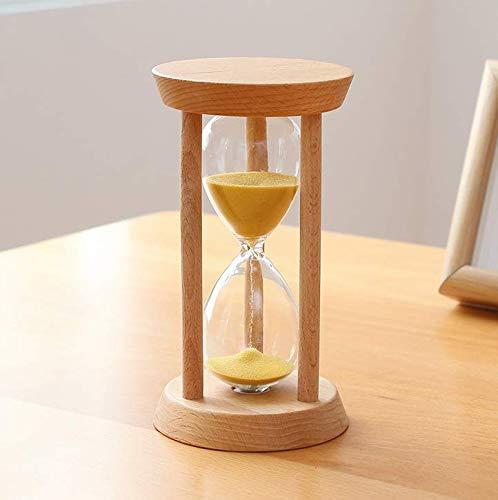 Honbobo Hölzern Sanduhr, 10 Minuten Zeit Uhr für Kinder Küche Haushalt Dekor Verzierungen