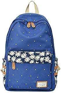 Girls Backpack Cute Prints Canvas School Rucksack Backpack for Girls Elementary Bookbag