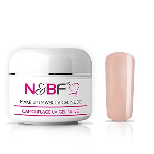 N&BF Make Up UV Gel 30 ml rose/rosa milchig | Camouflage Gel mittelviskos | Made in EU | Covergel für Babyboomer und French | Abdeck Gel rosa selbstglättend + säurefrei | Nagelgel deckend