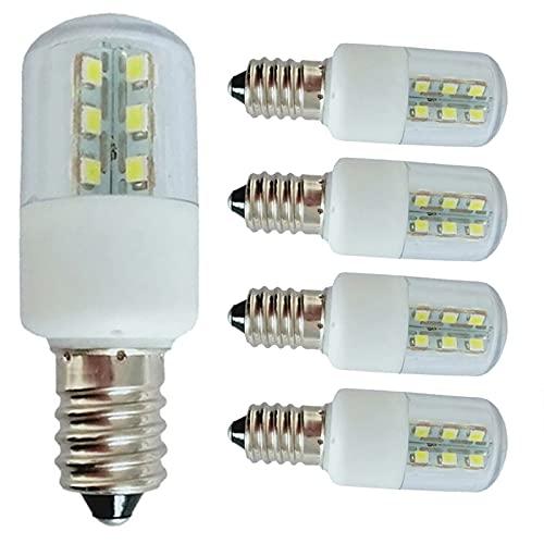 JZlamp Mini 3W E14 E12 Lámpara de Cristal LED SMD 5050 Microondas Horno Bombilla Lámpara congelador AC 110V 220V (5pcs),Warm White,E14 220V