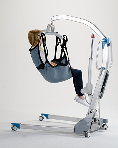 Patient Aid One Piece Patient Lift Sling with Positioning Strap, Size Medium, 600lb Weight Capacity