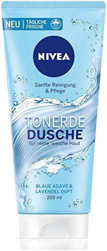 NIVEA Tonerde Dusche Blaue Agave & Lavendel Duft im 6er Pack, sanft reinigendes Duschgel mit frischem Duft, Pflegedusche für samtig weiche Haut
