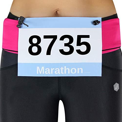 Formbelt [Startnummernband zur Startnummer Befestigung für Laufgürtel - der Startnummerngürtel zum Einsatz beim Joggen, Laufen, Firmenlauf, Triathlon oder Marathon, Inline-Skaten, Walken