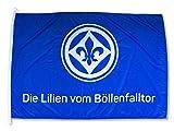 Sportverein SV Darmstadt 98 Fahne - Flagge - Die Lilien vom Böllerfalltor - 150x100cm - Lizenzprodukt