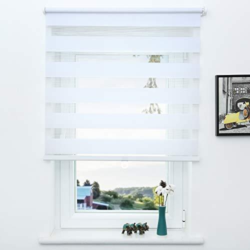 SUNFREE Cordless Zebra Roller Shade Window Blinds and Shade