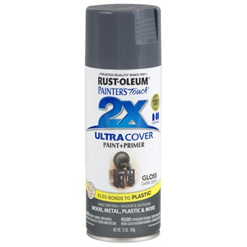 Rust-Oleum 249115 Painter's Touch 2X Ultra Cover, 12 oz, Dark Gray