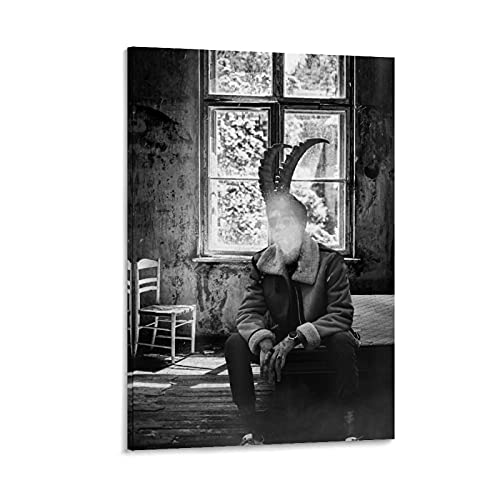 Póster de The Horned Man y arte de pared con diseño moderno para dormitorio familiar, 30 x 45 cm