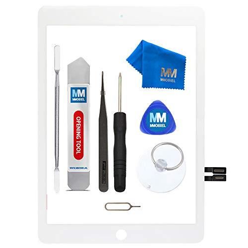 MMOBIEL Digitizer Display Glas kompatibel mit iPad 6. Gen 2018 9.7 Inch (Weiss) Touchscreen Ersatzteil Inkl Werkzeugset