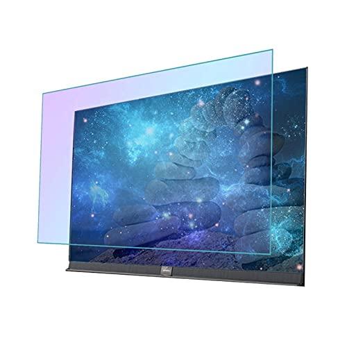 AMDHZ LCD Protector de Pantalla, Vidrio de Seguridad antichoque, Antiarañazos Fácil de Montar, Adecuado para LCD, LED, 4K OLED y QLED y Pantalla Curva (Color : HD Version, Size : 60 Inch 132X*749mm)