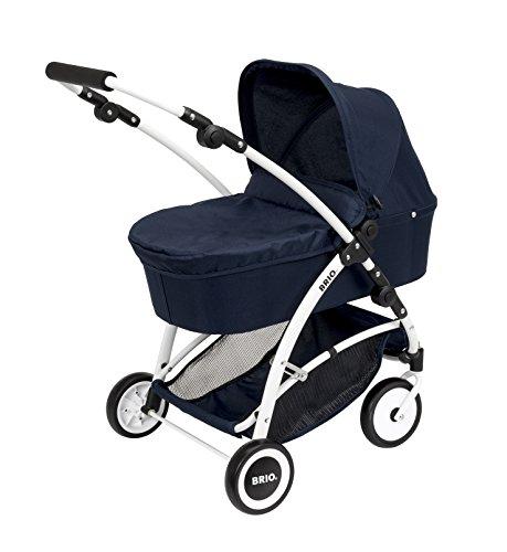 BRIO 00017 - Puppenwagen Spin blau mit Schwenkrädern
