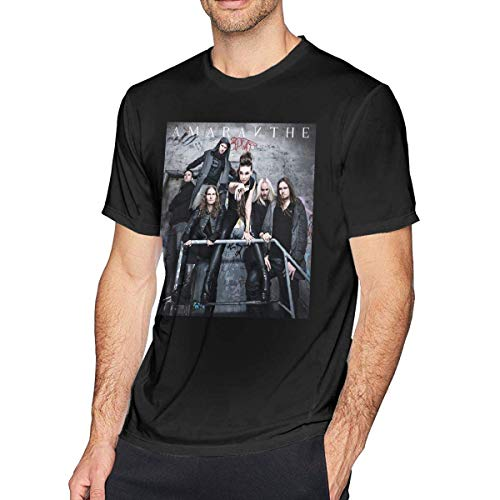 ADKASD Hemden T-Shirt Amaranthe Mens Fashion T Shirt Cotton Tee Shirts Short Sleeve