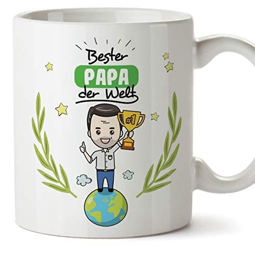 Mugffins Papa Tasse/Becher/Mug - Bester Papa der Welt - Kaffeetasse als Vatertagsgeschenk. Keramik 350 ml