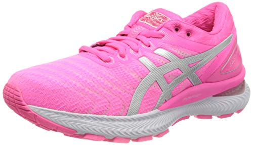 Asics Gel-Nimbus 22, Running Shoe Mujer, Hot Pink/Pure Silver, 41.5 EU