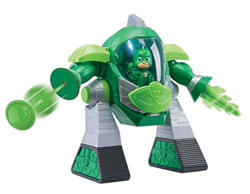PJ Masks- Robot Turbo Movers Geko, buhita, Color Verde (Bandai JP95508)