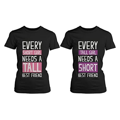 b78a11e502af5 Best Friend Shirts - Short and Tall Best Friends BFF Matching T-shirts