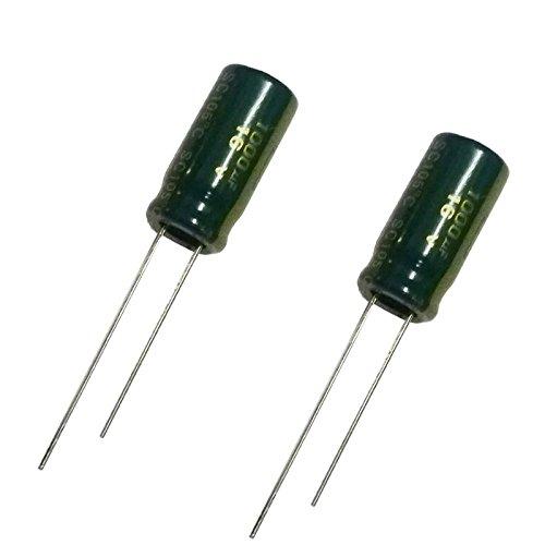 2 x 1000uF 16 V bajo ESR y baja impedancia condensador electrolítico radial 10 x 15 mm 105 C 20% paso: 5 mm