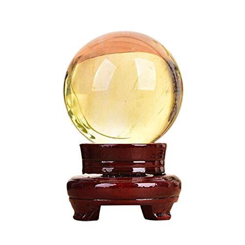 LXHJZ Bola Cristal/Bola fotografía 10cm Citrino Natural Calcita Esfera Cristal Cuarzo Bola...