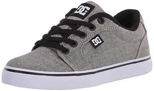 DC Boys' Anvil Skate Shoe, Grey Heather, 5 M US
