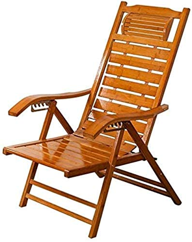 Stühle Sonnenliege Freizeit Kissen Liegender Gartenstuhl Liegestühle Tragbare Bambus Multi-Position Adjustment Beach...