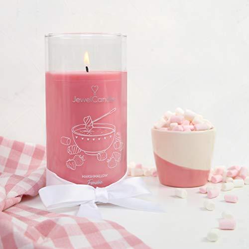 JuwelKerze 'Marshmallow Fondue' (Ohrringe) Schmuckkerze große Rosa Duftkerze 925 Sterling Silber - Kerze mit Schmucküberraschung als Geschenk für sie
