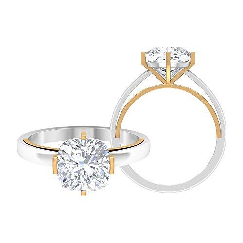 Rosec Jewels 14 quilates oro amarillo cojín Moissanite