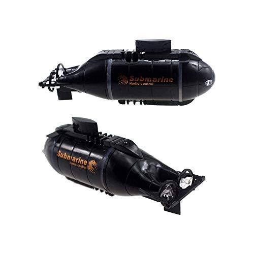 U Boot, Mini RC Fernbedienung Boot U-Boot Schiff RC U-Boot Spielzeug Unterwasser, Ferngesteuertes Elektrisches Uboot Für Pools, Badewannen, Fischtanks, Ferngesteuertes Schiff Mit Licht (Schwarz)