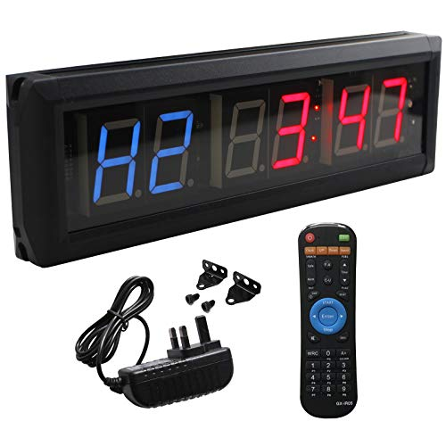 Reloj de pared cronómetro con temporizador de intervalos de Ledgital crossfit con...