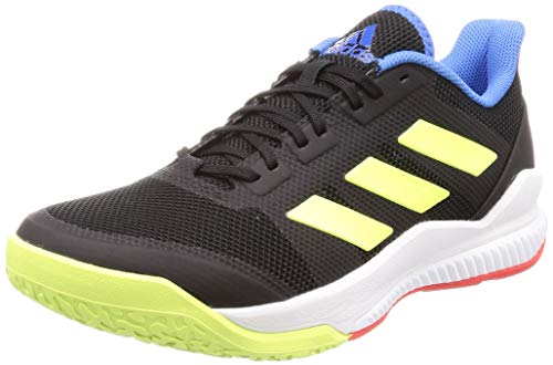 adidas Stabil Bounce, Zapatillas de Balonmano Hombre, Negro (Core Black/Hi/Res Yellow/True Blue Core Black/Hi/Res Yellow/True Blue), 48 2/3 EU