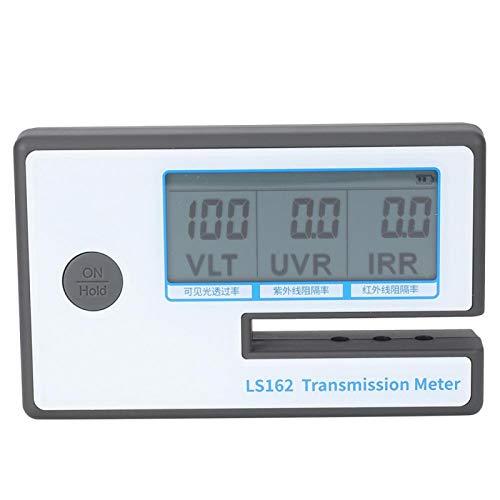 Medidor de tinte de ventana, medidor de transmisión de película solar con ranura de prueba de consumo de energía ultra bajo alimentado por batería de 8 mm, diseño compacto para vidrio de