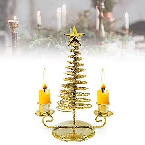 HOTLIKE Candelabros, Decoraciones de Navidad, Velas de Navidad Portavelas Metal, Candle Holder, Decoración para Mesa Bodas Parte y Cenas Centros, San Valentín, Navidad, Halloween