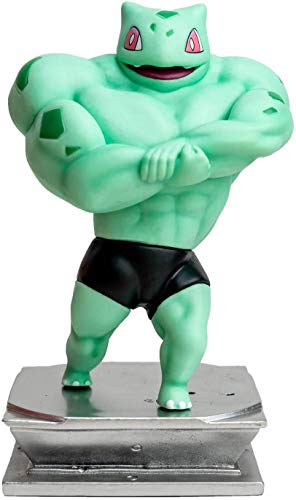 Yhk Muscle Bulbasaur And Pikachusquirtlecharmander Figure Bodybuilding Collectionpikachu Cosplay Muscle Man Bulbasaur