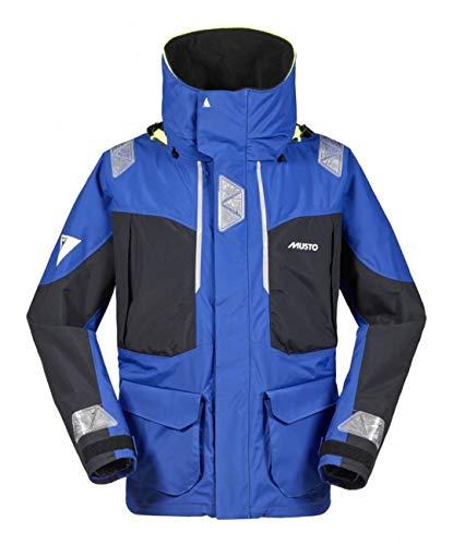 Musto Herren Br2 Offshore Segelyacht Mantel Jacke Mantel Brilliant Blue Black. Wasserdicht und atmungsaktiv