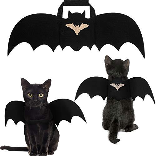 Frienda 3 Pieces Pet Cat Bat Wings Cat Halloween Bat Wings Black Cat Bat Costume Pet Cosplay Bat...