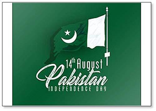 Kühlschrankmagnet, Motiv: Pakistan Unabhängigkeitstag 14 August