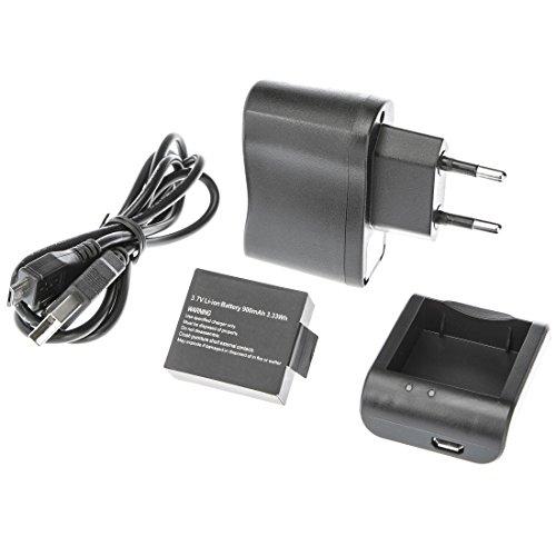 Ultrasport UmovE Power Kit UmovE - Batteria, Cavo USB, Caricabatteria, Cavo di Alimentazione per la Videocamera Sport e Action UmovE HD60