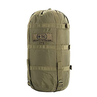 Nylon Sleeping Bag Compression Bag - Stuff Sack - Military Camping Hiking Backpacking - M (Olive)