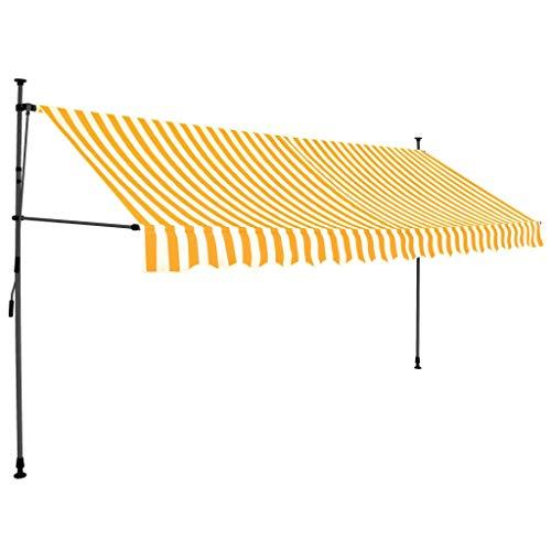 Tidyard Einziehbare Markise Handbetrieben Sichtschutz Klemmmarkise Mit Solarmodul und LED-Leiste,Garten-Seitenmarkise Seitenrollo Seitenwand,Balkon Sonnenschutz,Wasser- und schmutzabweisend
