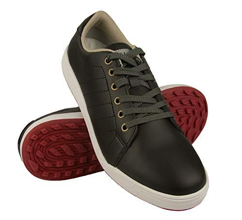 Zerimar Zapatos de Golf Hombre | Zapatos Hombre Deportivos | Zapatos Hombre Golf | Zapatillas Deporte Hombres | Zapatillas de Golf Hombre | Zapato Golf Piel | Color Negro Talla 45