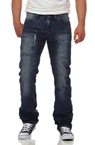 M.O.D Herren Hose Straight Cut Jeans Danny Comfort Seabed Blue 40/32