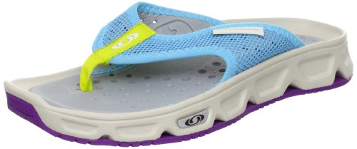 Salomon Damen Rx Break Sport-& Outdoor Sandalen, score blue/ light grey-/ anemone purple, 6.5 UK