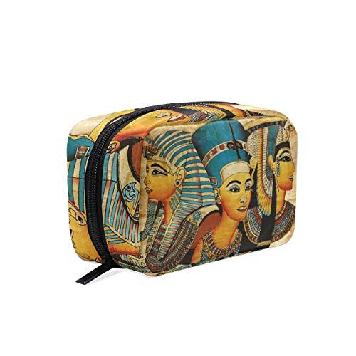Mnsruu - Pochette de rangement pour cosmétiques - Style antique égyptien - Pour femme et fille